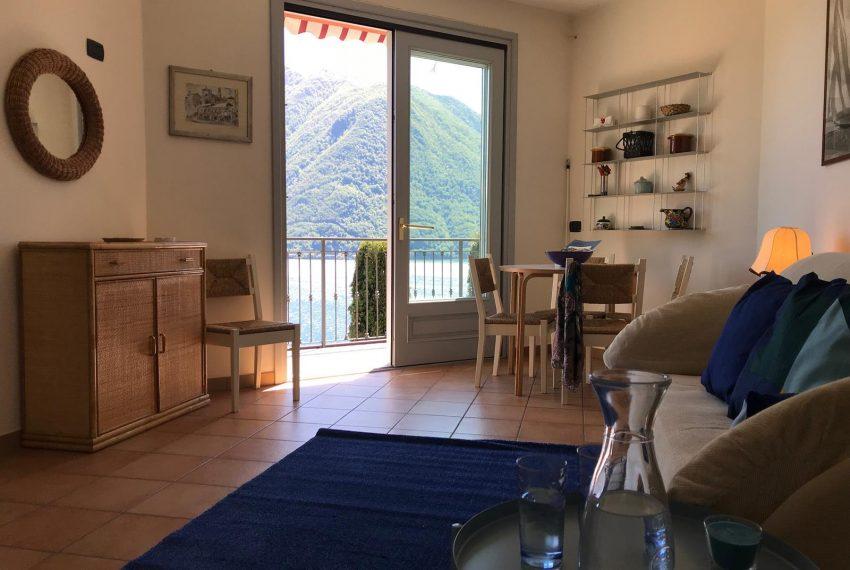 Living Room Lake Como View For Rent