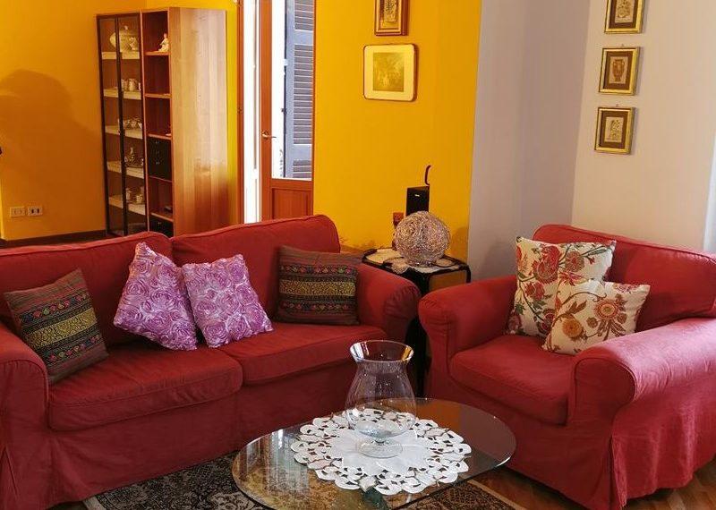 new living room apartment for hoiday rent Argegno tagliata