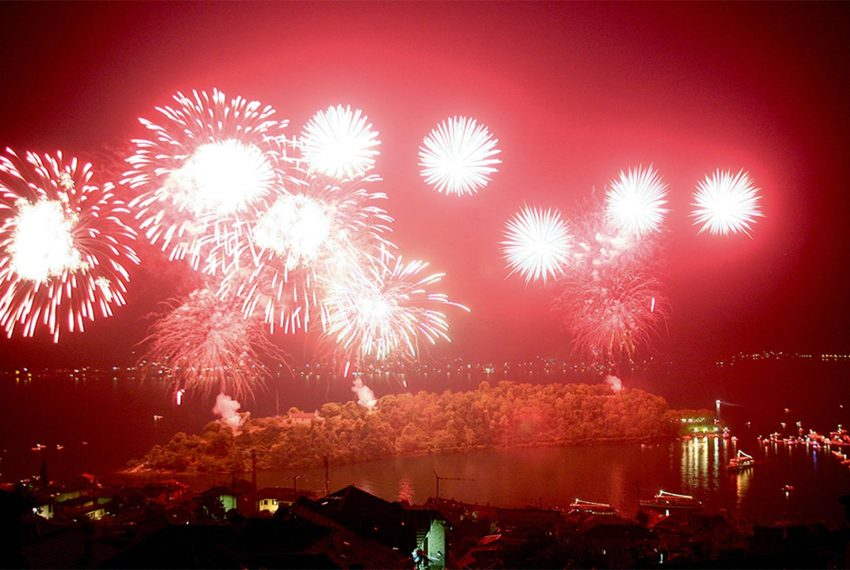 28. Firework at Lake Como