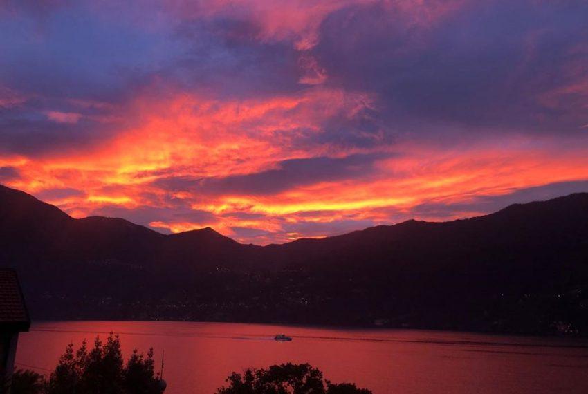 43. Magic sunset on Lake Como