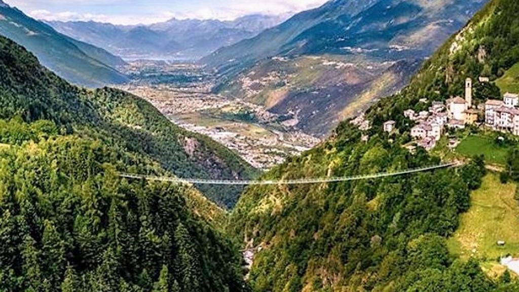 Bridge in the sky Valtellina