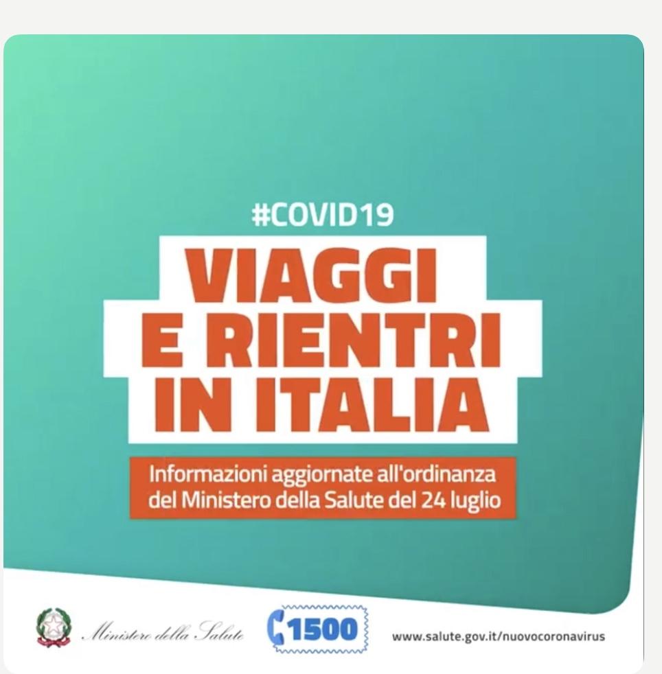 Viaggiare e rientrare in Italia